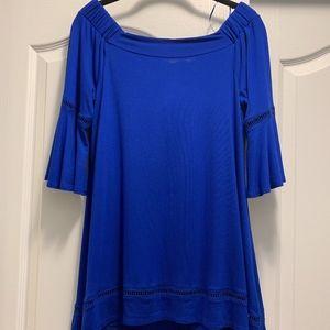 Off the ShoulderCable & Gauge Royal Blue Top/Dress